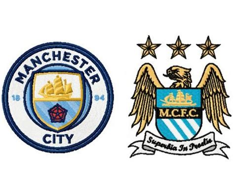 Manchester City Fc Logo Machine Embroidey Design For Instant Download