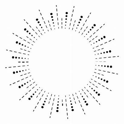 Lines Dots Sunburst Icon Transparent Svg Vector