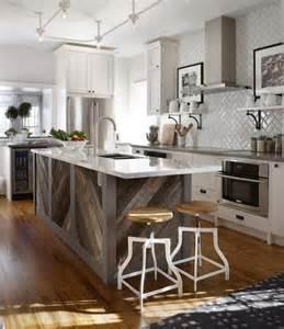 barnwood kitchen island remodelaholic diagonal planked reclaimed wood kitchen island