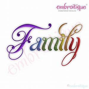 Embroitique Family Script 5 Embroidery Design