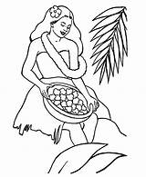 Coloring Pages Hula Hawaii Flower State Hawaiian Collecting Drawing Precious Moments Fish Getdrawings sketch template