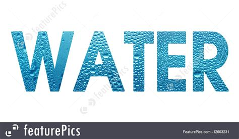 word water  white background