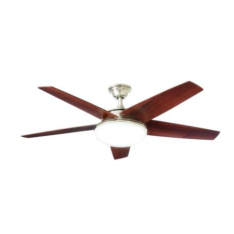 petersford 52 in led brushed nickel ceiling fan home decorators collection piccadilly 52 in led indoor