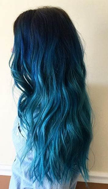 hair color dark to light 29 blue hair color ideas for daring women blue ombre