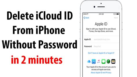 forgot apple id password on iphone remove icloud apple id from iphone without password ios 10 Forgo