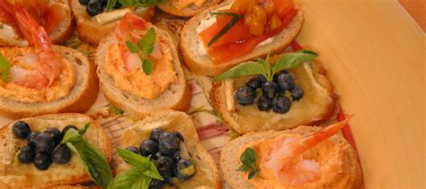 canapes with prawns spicy canapés with shrimp and grilled pepper recipe