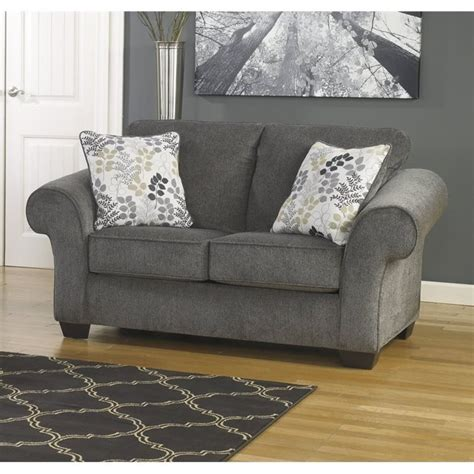 Makonnen Charcoal Sofa Loveseat by Makonnen Chenille Loveseat In Charcoal 7800035