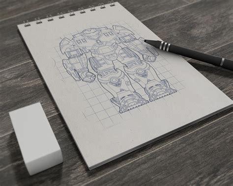 illustrations drawing sketchbook mockup psd good
