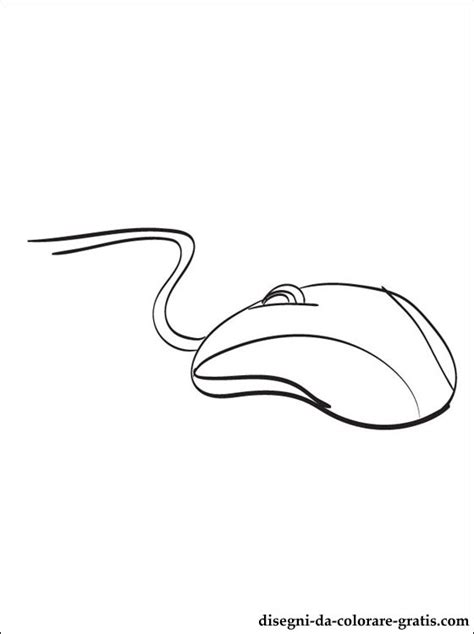 disegno  mouse da colorare disegni da colorare gratis