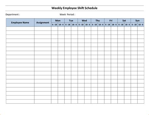 blank work schedule template teknoswitch