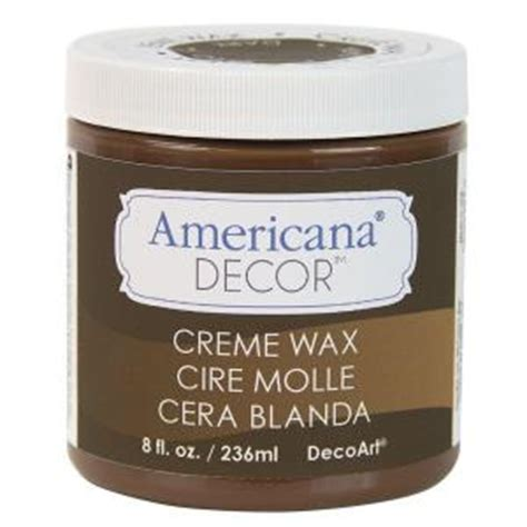 Americana Decor Creme Wax 8 Oz Clear by Decoart Americana Decor 8 Oz Brown Creme Wax Adm07