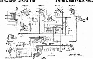 Zenith Models 5r080  5r086 Schematic  U0026 Parts List  August