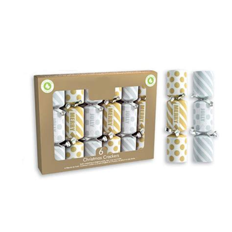Mini Gold & Silver Christmas Crackers 15cm / 6 in - Pack ...