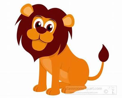 Lion Clipart Clip Cartoon Eyes Graphics Animals