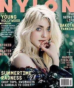 NYLON Magazine (information font on cover, not logo ...