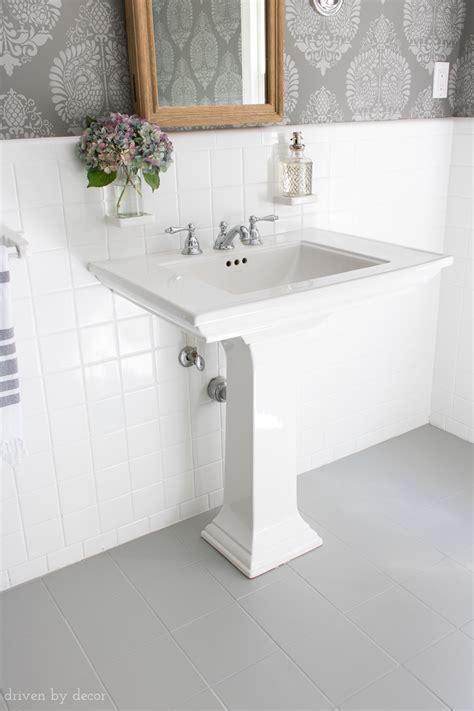 painted  bathrooms ceramic tile floors  simple