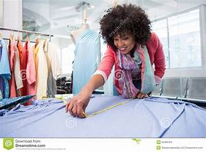Female Fashion Designer At Work Stock Photo - Image of ...