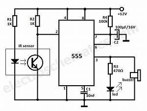 motion detector ir reflection alarm circuit elektronik With alarm circuit board
