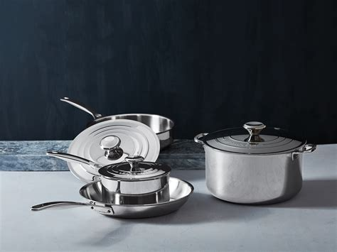 creuset le stainless steel cookware factory launches foodandwine blog0318 ft