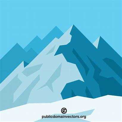Mountain Gunung Vektor Clip Klip Seni Gratis