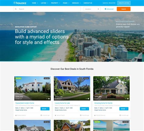 Real Estate Website Templates Real Estate Website Templates 25 Exles How To Choose