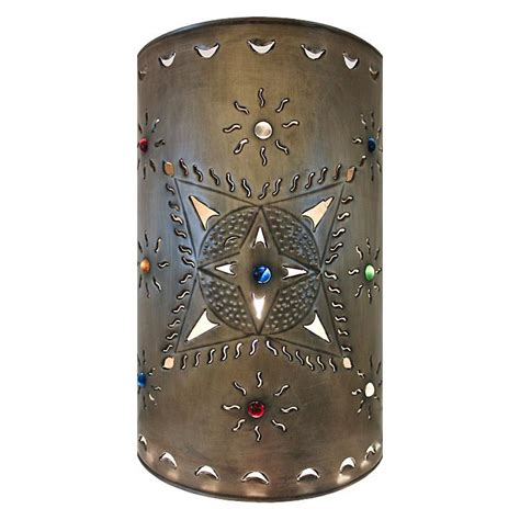 rustic kitchen canisters tin lighting collection toluca wall sconce lamw14
