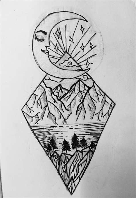 Drawing Ideas Moon Doodle Easy Drawing Cool Black  Drawing Ideas ️  Pinterest  Easy Drawings