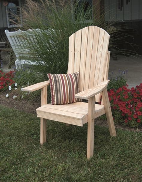 Upright Adirondack Chair Plans by Yellow Pine Upright Adirondack Chair Outdoor Furniture