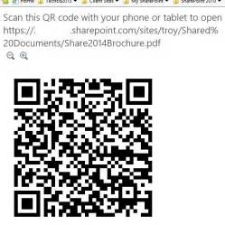 Office 365 Qr Code by Sharepoint Document Mobile View Via Qr Code