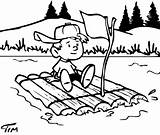 Raft Building Boy Drawing Transition Boat Before Coloring Missionary Lashing Four Rafting Together Timtim Drawings Sail Bw Returning Float Counseling sketch template