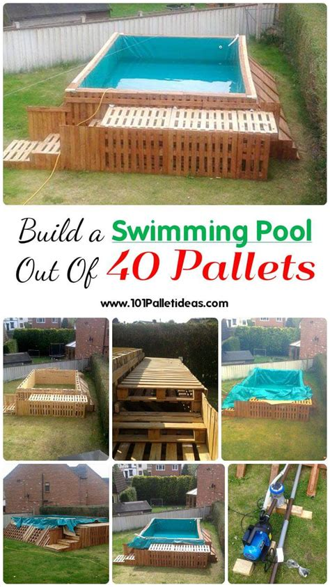 build  swimming pool    pallets