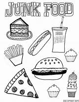 Coloring Healthy Pages Foods Unhealthy Junk Western Olds Groups sketch template