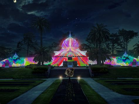 light show lightshow to illuminate conservatory of flowers for summer Illuminate