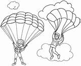 Parachute Coloring Printable Pages Favourite Children Fun sketch template