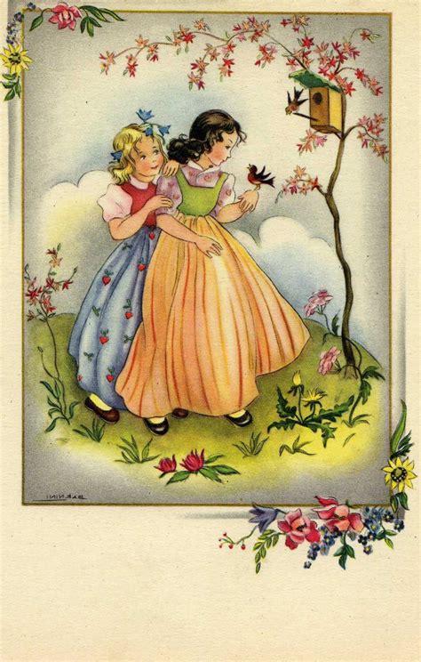 jane easter spring vintage postcards