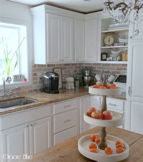 Brick Kitchen Cupboards by Diy Whitewash Brick Backsplash And Thinbrick Source