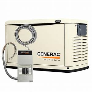 Generac 6237 8kw Steel Automatic Standby Generator With 10