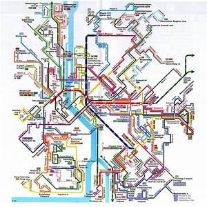 Budapest Public Transportation Map