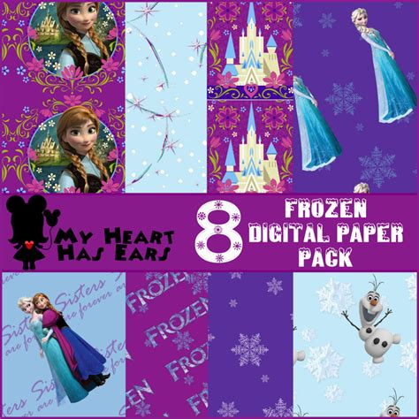 printable  disney frozen digital scrapbooking