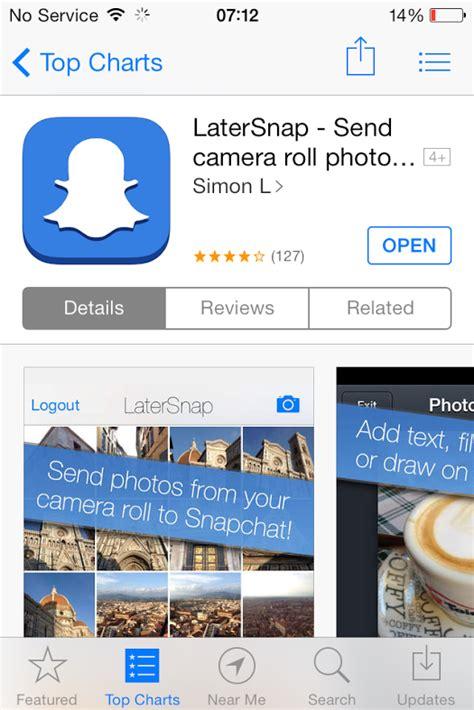 upload   snapchat  camera roll