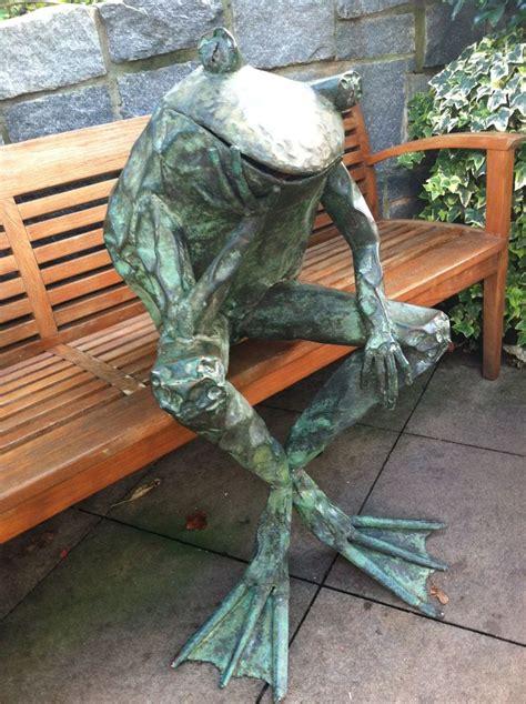 copper frog sculpture  atlanta botanical garden