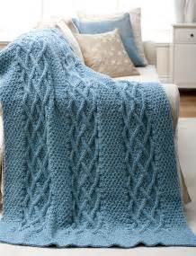 Free Knitting Patterns Cable Knit Afghans