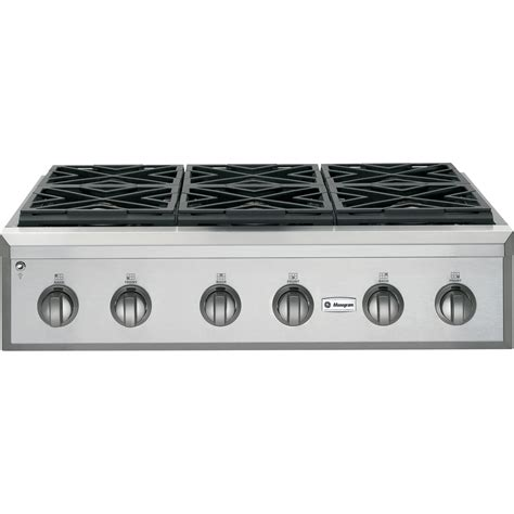 36 inch electric cooktop ge monogram zgu366npss 36 in gas cooktop sears outlet