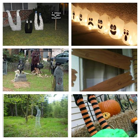 diy outdoor decorations yard halloween roundup diy yard decorations littlewillowtree