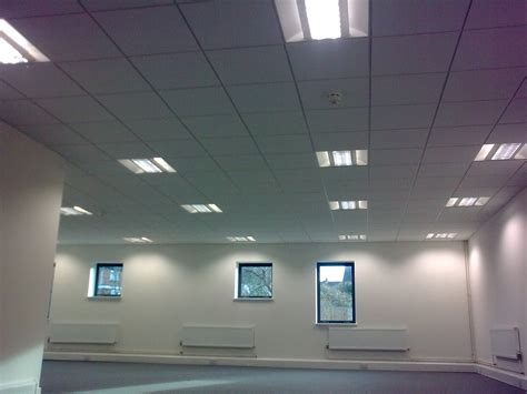 Suspended Ceiling Lighting Re Hung Below The Main