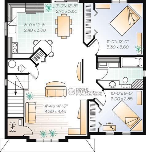plan cuisine ouverte salle manger duplex triplex w2096 maison laprise maisons pré