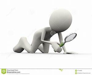 3d Person Searching With Magnifying Glass Stock ...