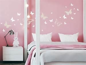 Wandtattoo Kinderzimmer Schmetterlinge : wei e wandtattoos f r schlafzimmer kinderzimmer und co ~ Sanjose-hotels-ca.com Haus und Dekorationen
