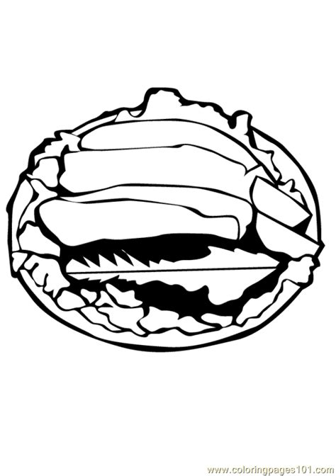 fish filet coloring page  meat coloring pages