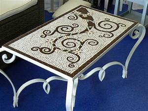 Table Mosaique Fer Forgé : tables en mosaique mobilier sur enperdresonlapin ~ Dailycaller-alerts.com Idées de Décoration